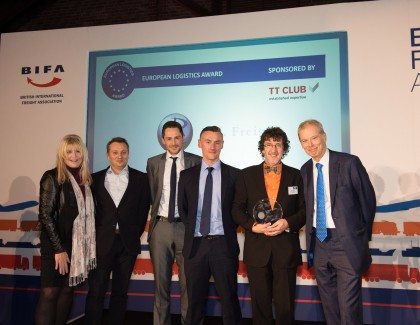 TT Club Presents European Logistics Award at BIFA Ceremony