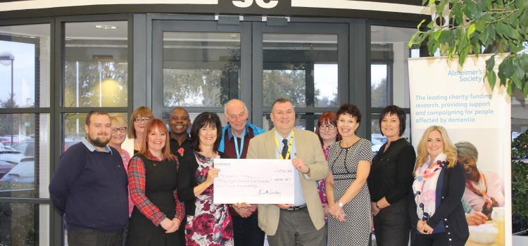 MSC UK raises impressive company record of £28,900 for Alzheimer's Society