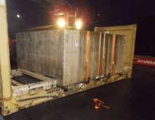 Freight network members cooperating to move a Grinding Mill from Germany to Indonesia
