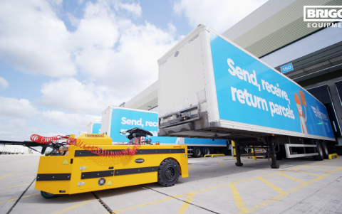 Bradshaw PT2000 articulated trailer mover creates efficiencies at Hermes