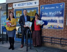 CML team up with Hacche to help local school after break in