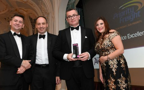Priority Freight win prestigious Service Excellence award