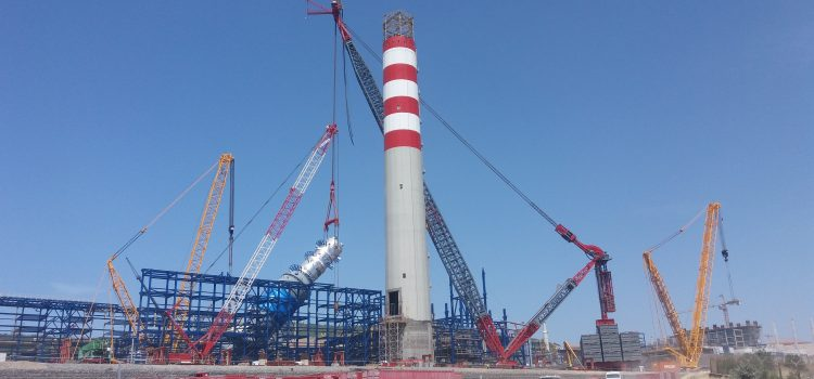 The AL.SK190 performs first lifts in Aliağa, Izmir province in Turkey