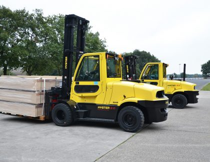 New eight tonne electric forklift previewed by Hyster