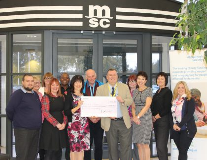 MSC UK raises impressive company record of £28,900 for Alzheimer's Society