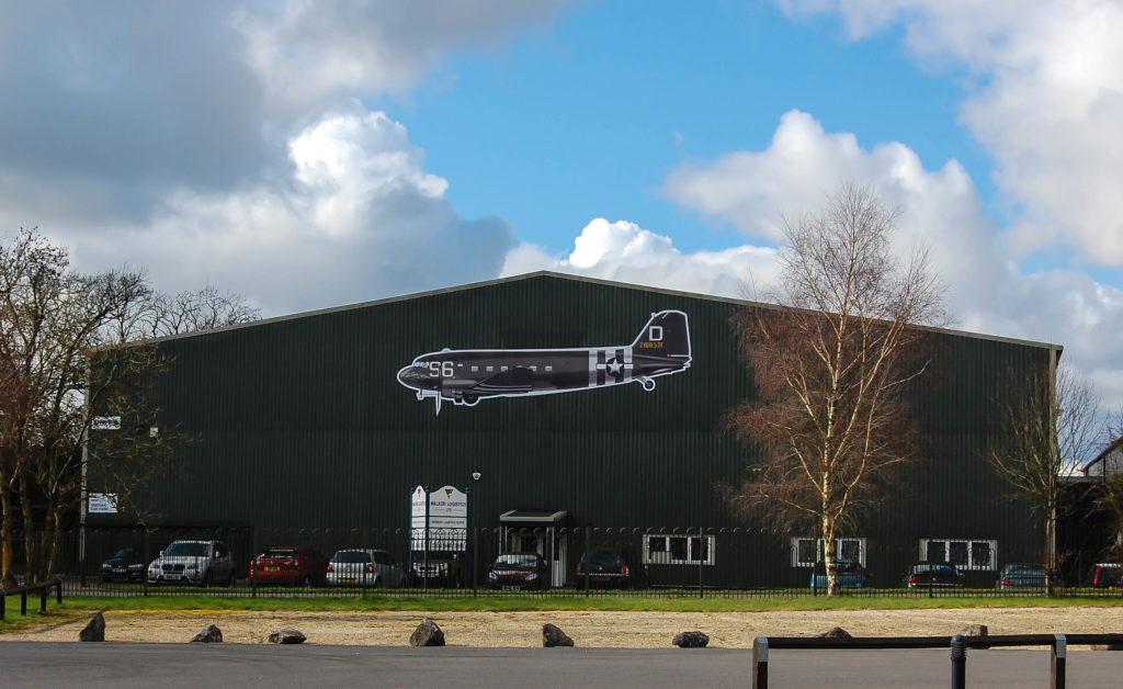 C-47 aircraft at the facility