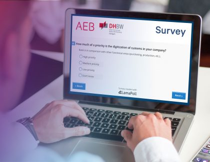 How is the digital revolution transforming customs processes? AEB and DHBW Stuttgart launch online survey