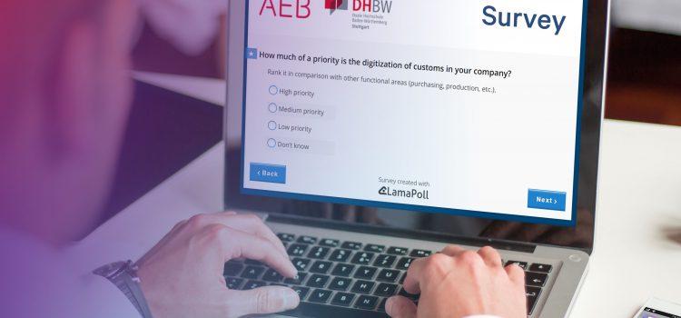 How is the digital revolution transforming customs processes? AEB and DHBW Stuttgart launch online survey