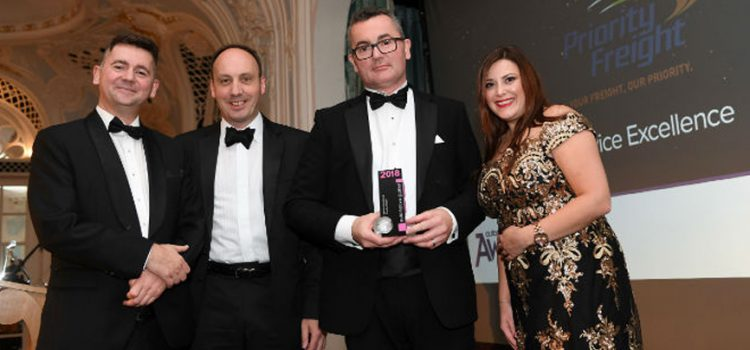 Priority Freight win prestigious Service Excellence award