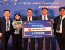 Turkish Cargo awarded by the Incheon International Airport