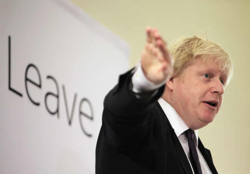 Minister Boris Johnson